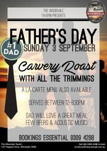 Father's Day Lunch and Dinner @ The Woodvale Tavern | Woodvale | Western Australia | Australia