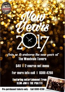 2017 12, Dec 31st, New Years Eve TAVERN