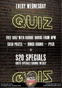 Quiz at The Woodvale @ The Woodvale Tavern and Reception Centre  | Woodvale | Western Australia | Australia