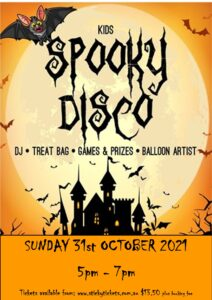 [SOLD OUT] 3rd Session Kids Spooky Disco 2021 @ The Woodvale Tavern and Reception Centre | Woodvale | Western Australia | Australia