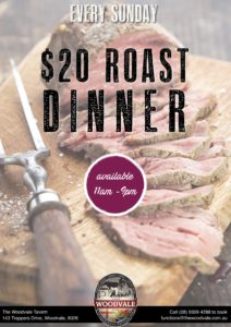 $20 Roast Dinner @ The Woodvale Tavern and Reception Centre | Woodvale | Western Australia | Australia