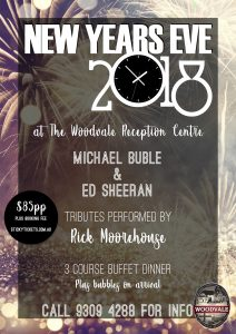 NYE 2018 with Michael Buble, Ed Sheeran & DJ Knightsy @ The Woodvale Tavern and Reception Centre | Woodvale | Western Australia | Australia