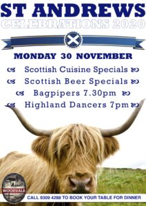 ST Andrew's Day 2020 @ The Woodvale Tavern and Reception Centre | Woodvale | Western Australia | Australia