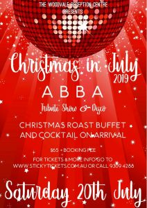 Xmas in July with Abba Tribute & Disco @ The Woodvale Tavern & Reception Centre