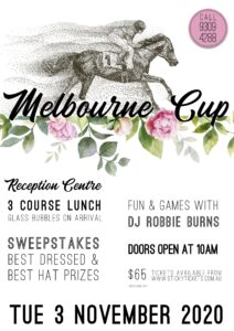 Melbourne Cup 2020 Function Centre @ The Woodvale Tavern and Reception Centre