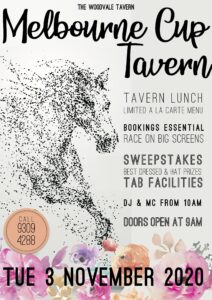 Melbourne Cup 2020 - Tavern @ The Woodvale Tavern
