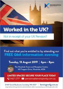 UK Pensions Seminar @ The Woodvale Tavern & Reception Centre
