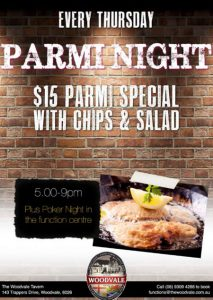 $15 Parmi Night