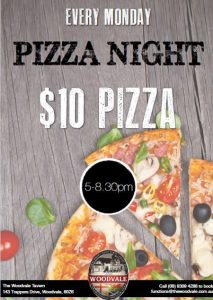 $10 Pizza Night @ The Woodvale Tavern and Reception Centre | Woodvale | Western Australia | Australia