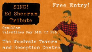 SING - Ed Sheeran Tribute @ The Woodvale Tavern and Reception Centre