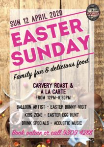 Easter Sunday @ The Woodvale Tavern & Reception Centre