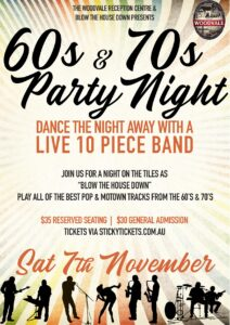 Reelin' In The Years - A 60s and 70s Review @ The Woodvale Tavern & Reception Centre