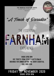 A Touch of Paradise - John Farnham Tribute @ The Woodvale Tavern and Reception Centre