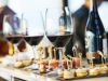 wine and canapes