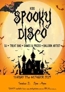 [SOLD OUT] 2nd Session Kids Spooky Disco 2021 @ The Woodvale Tavern and Reception Centre | Woodvale | Western Australia | Australia